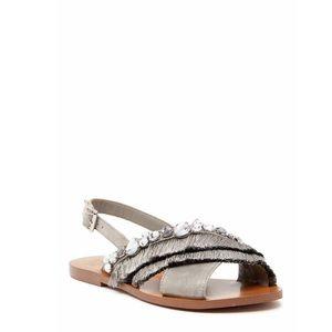 Vince Camuto Embellished Fringe Sandals